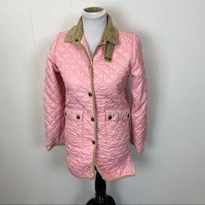Ralph Lauren Pink Quilted Puffer Coat Jacket